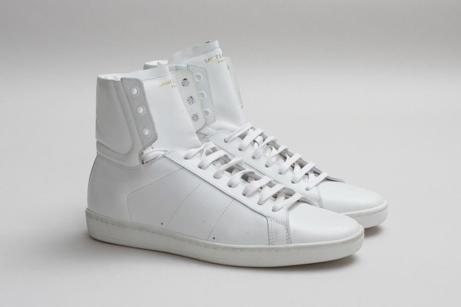 Saint Laurent Hi-Top Leather Sneakers mps8KOy9h3
